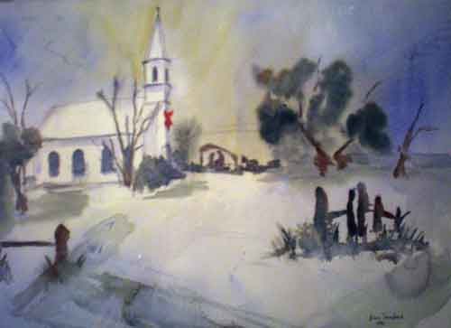Painting of Country Church in North Carolina