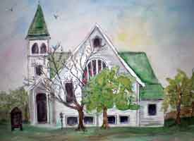 Picture of country church