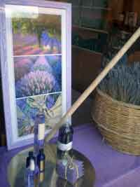 Window Scene of Lavender and Bottles in France